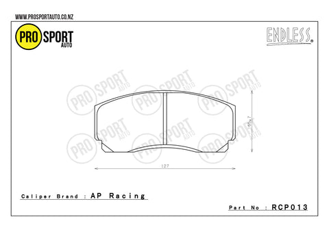 ENDLESS RCP013 Brake Pads