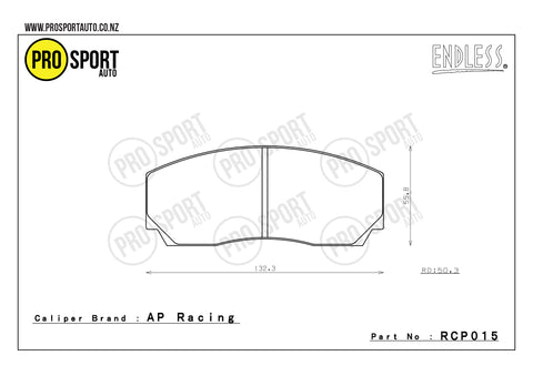 ENDLESS RCP015 Brake Pads