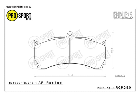 ENDLESS RCP050 Brake Pads