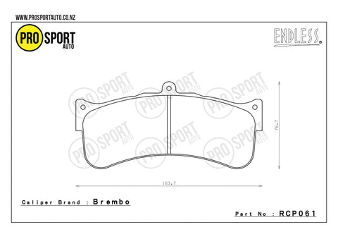 ENDLESS RCP061 Brake Pads