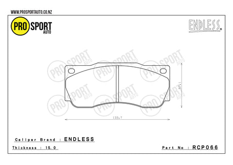 ENDLESS RCP066 Brake Pads