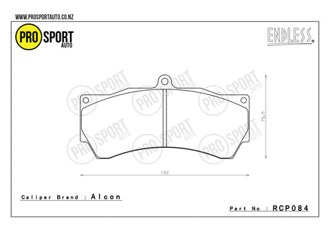 ENDLESS RCP084 Brake Pads