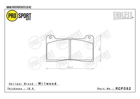 ENDLESS RCP092 Brake Pads