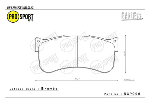 ENDLESS RCP096 Brake Pads
