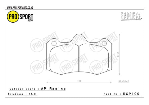 ENDLESS RCP100 Brake Pads
