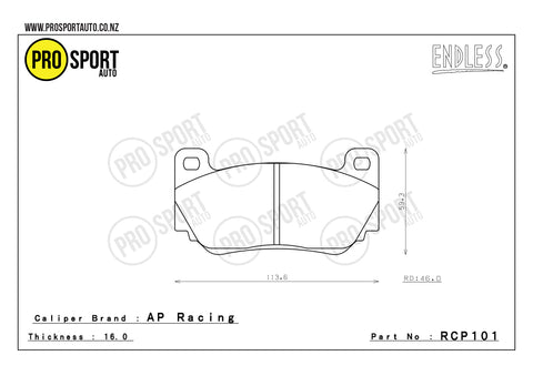 ENDLESS RCP101 Brake Pads