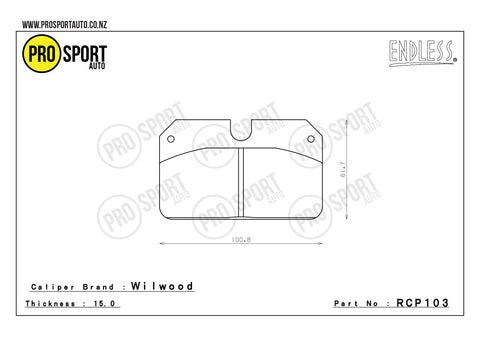 ENDLESS RCP103 Brake Pads
