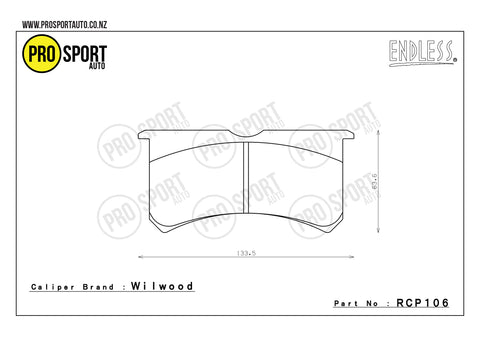ENDLESS RCP106 Brake Pads