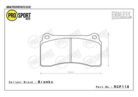 ENDLESS RCP118 Brake Pads