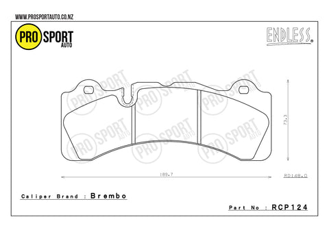 ENDLESS RCP124 Brake Pads