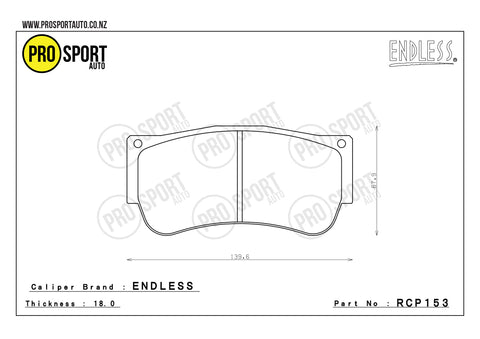 ENDLESS RCP153 Brake Pads