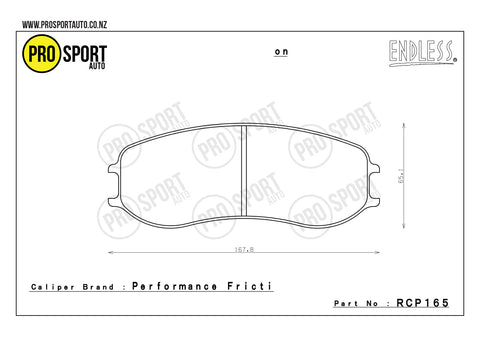 ENDLESS RCP165 Brake Pads