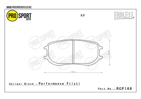 ENDLESS RCP166 Brake Pads