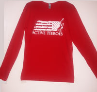 Red Long Sleeve Active Heroes T-Shirt