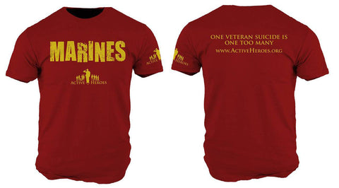 Active Heroes Branch Tee - Marines