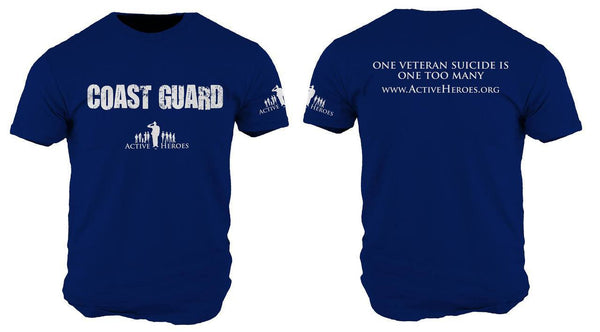 Active Heroes Branch Tee - Coast Guard