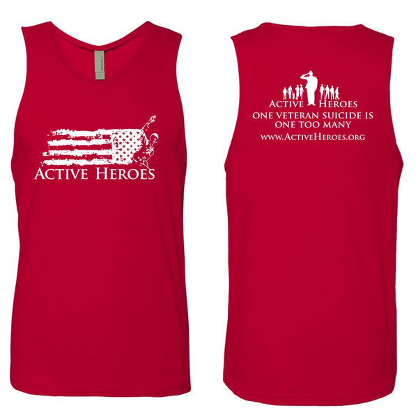 Active Heroes - Tank Top - Red