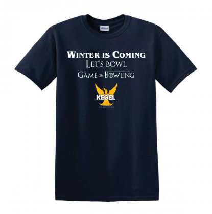 "Kegel T Shirt ""Winter Is Coming"" Navy"