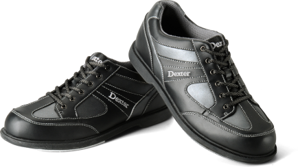 Dexter Pro-Am II, Men's Bowling Shoes, Black/Grey (Right Hand Only)