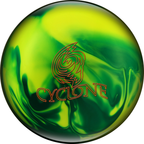 Ebonite Cyclone, Green/Yellow/Pearl