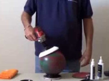 Bowling Ball Resurface (Heavy Scratching)