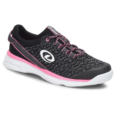 Dexter Jenna II Ladies Bowling Shoes, Blk/Grey/Pink