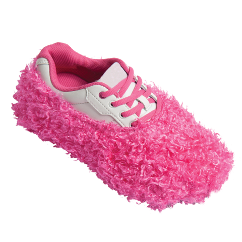 Fuzzy Shoe Cover, Pink