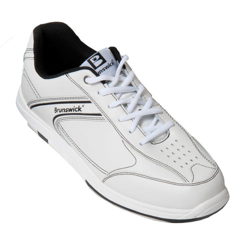 Brunswick Flyer, White/Black, Men's Bowling Shoes