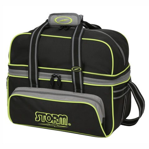 Storm 2 Ball Tote Deluxe Blk/Gry/Lime