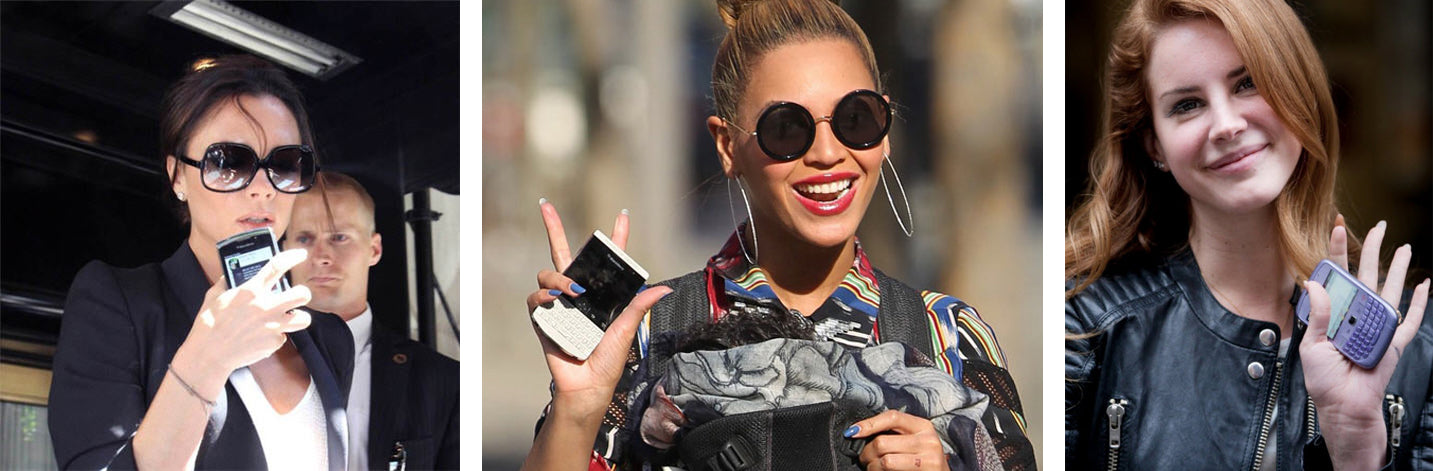 celebrity with blackberry
