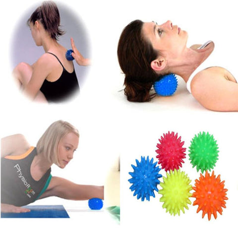 Boule de Massage Spikey - Balle à Picots Souple Masseur : Soulagement du Stress