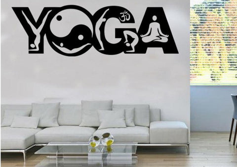 Stickers mural Yoga Yin Yang