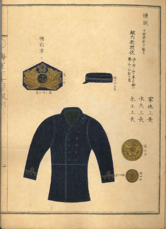 Japanese Navy Uniform Specification Booklet