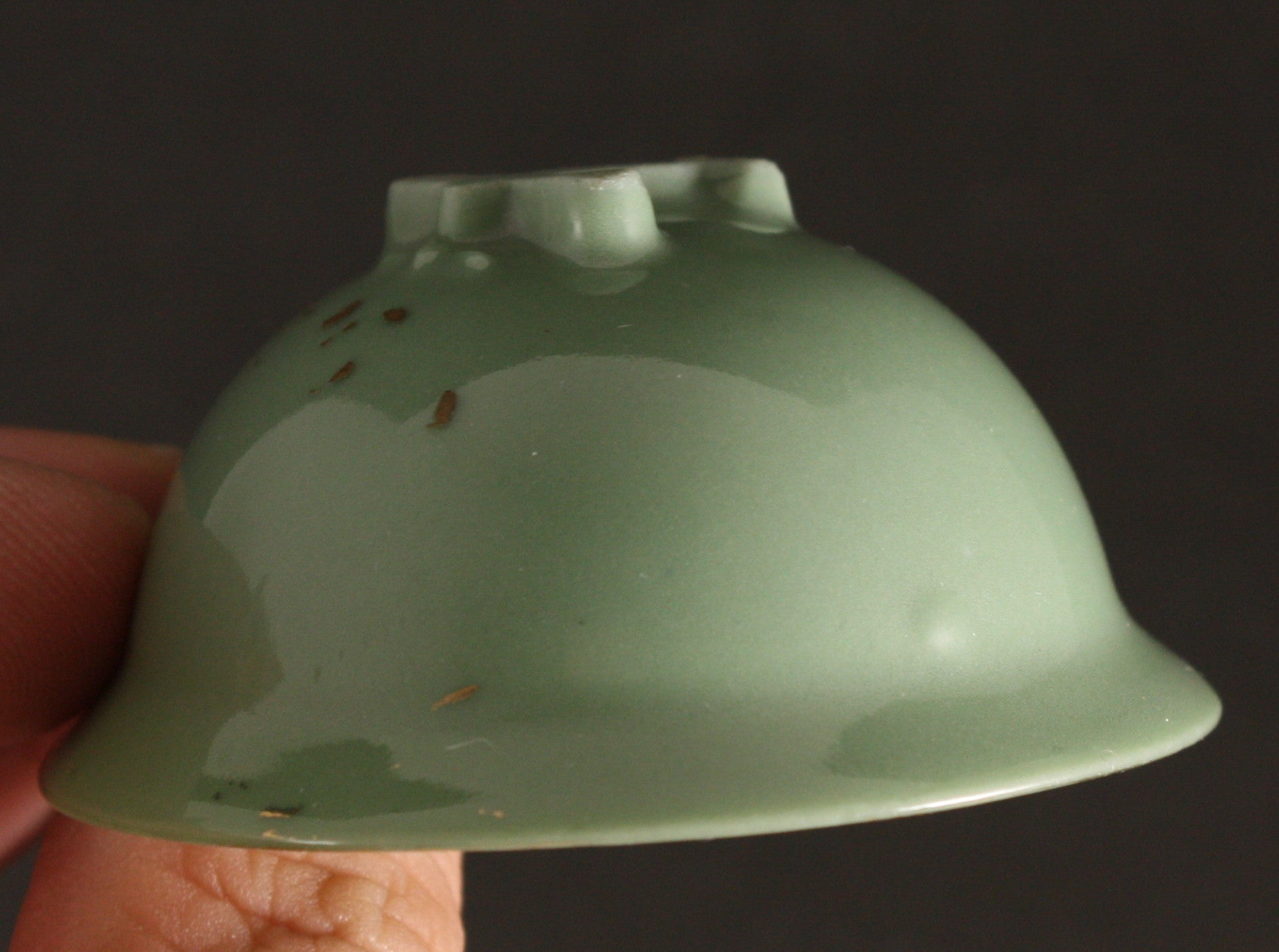 Antique Japanese Military 5th Air Corps Biplane Helmet Shape Sake Cup