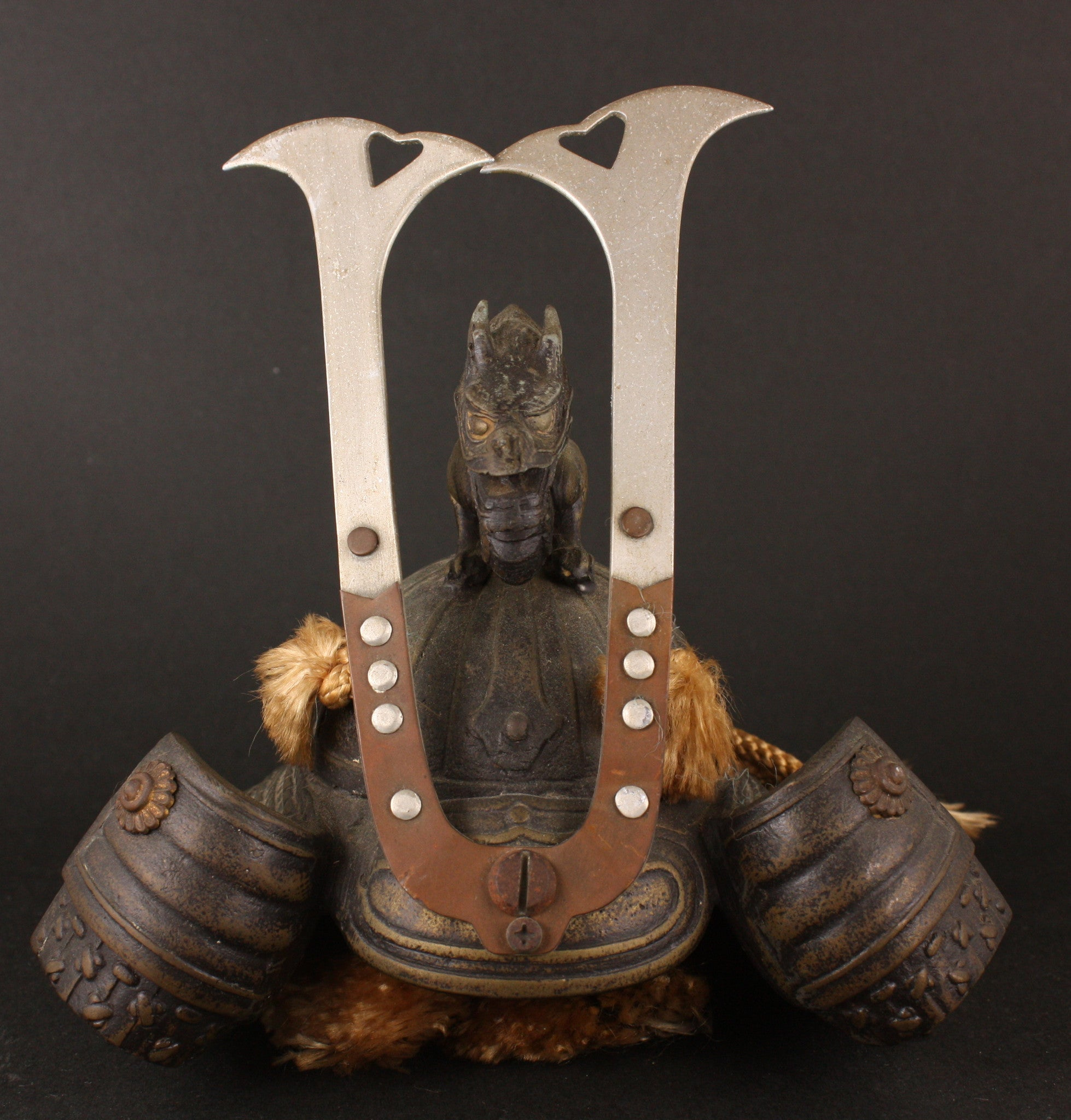 Rare Antique Japanese Military 1935 Official Naval Skills Award Commemorative Kabuto