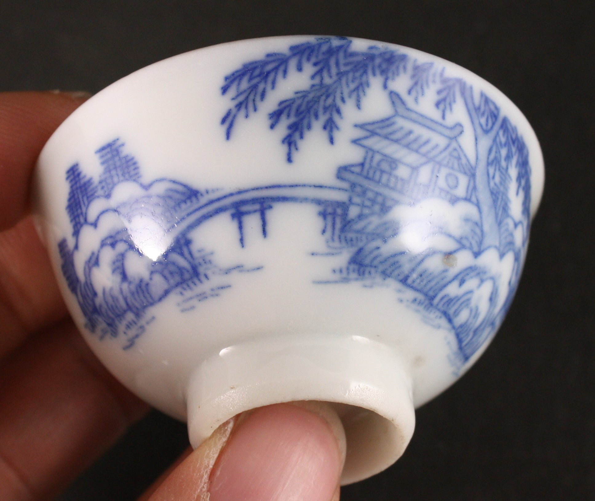 Antique Japanese Military 1931 Shanghai Expedition Detailed Exterior Army Sake Cup
