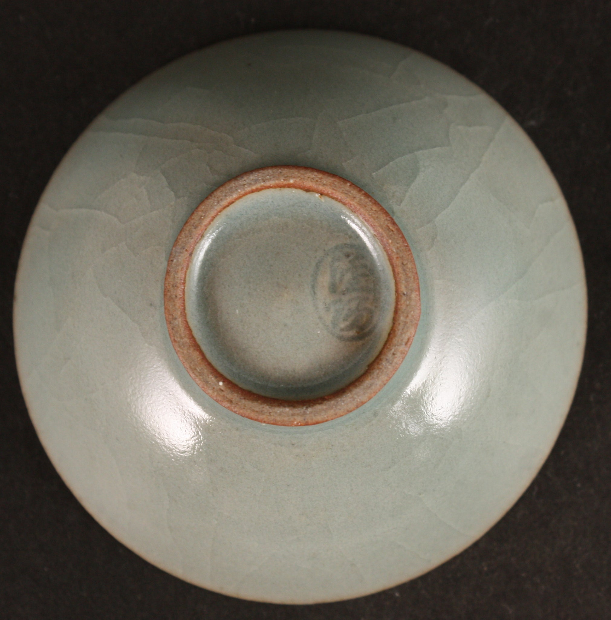 Rare Antique Japanese Korea Defense Celadon Army Sake Cup
