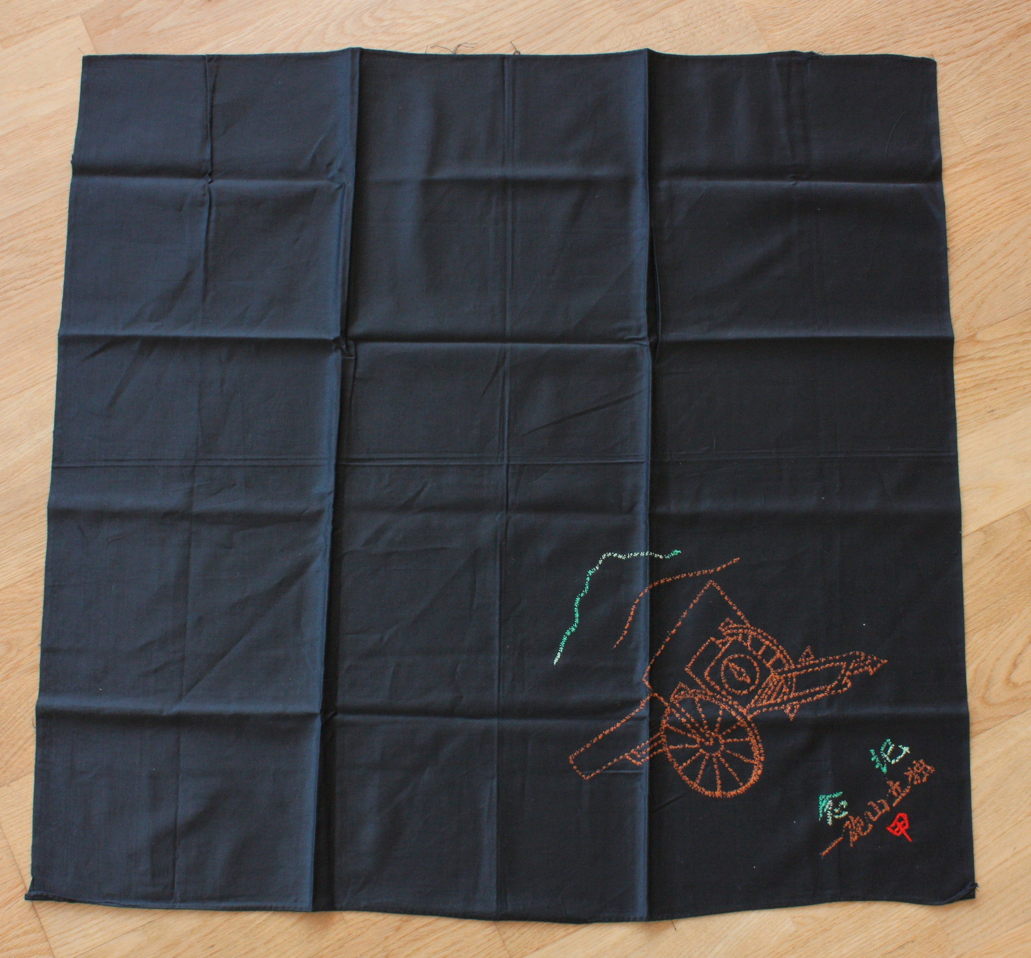 Antique Japanese Military 1st Mountain Artillery Hand Stitched Furoshiki Wrapping Cloth