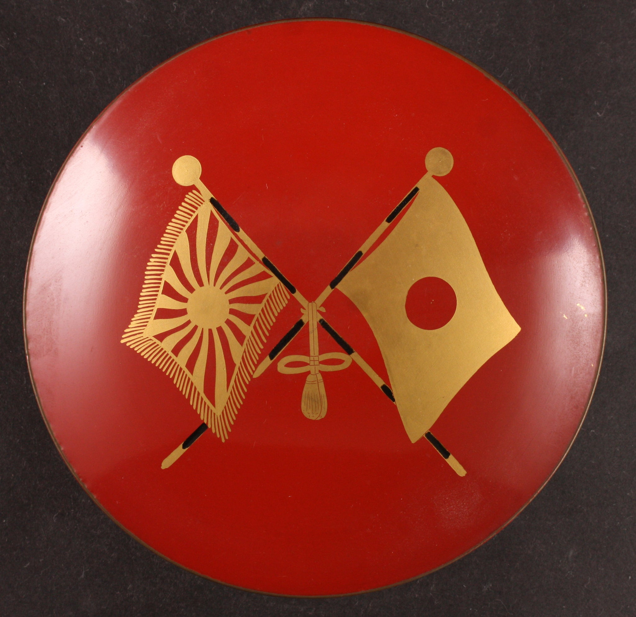 Russo Japanese War Victory Flags Shobukai Lacquer Army Sake Cup