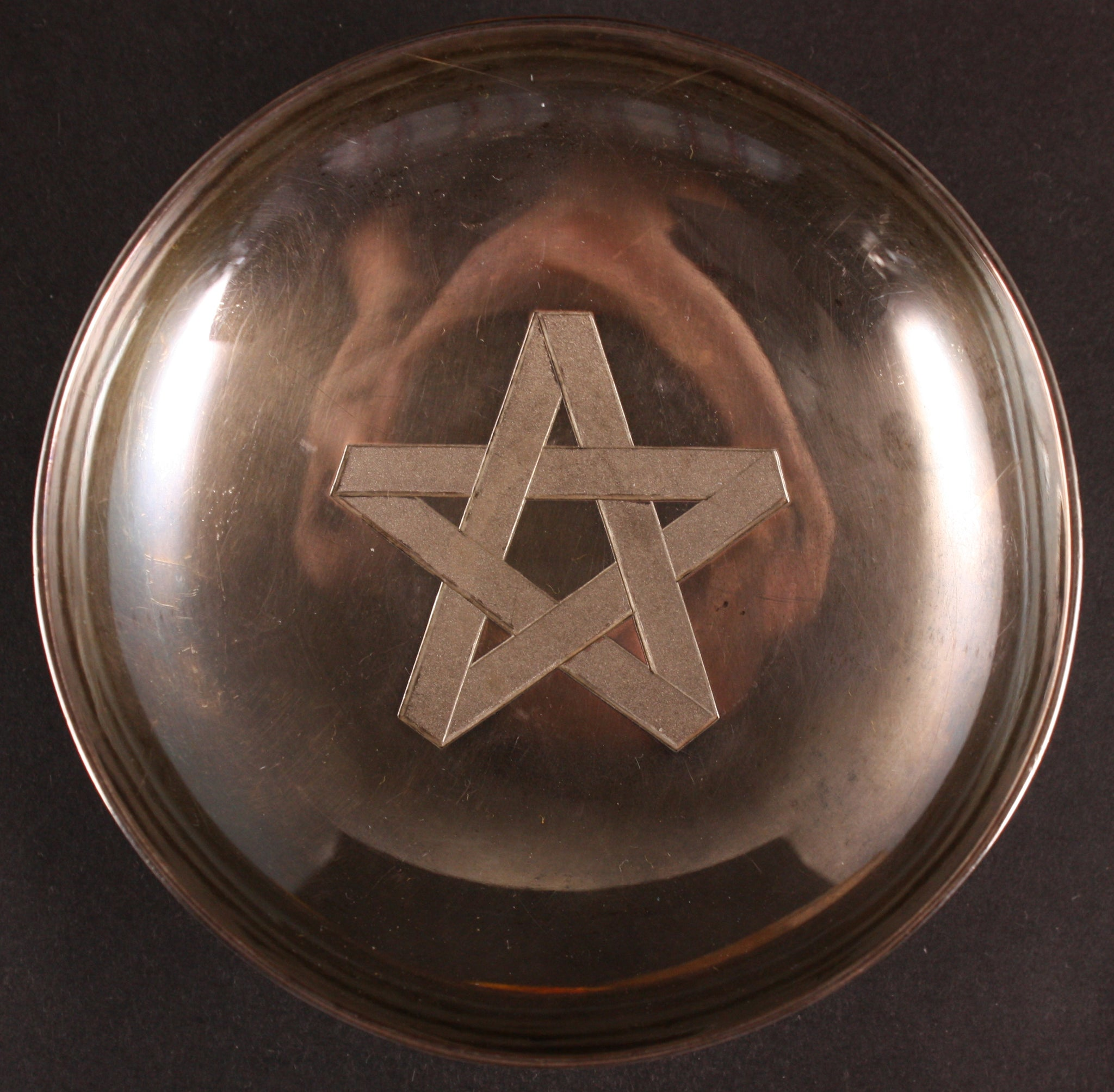 Russo Japanese War Carved Star Army Silver Sake Cup
