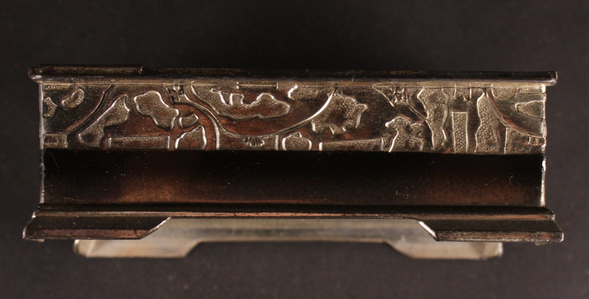 Antique Japanese Military 1937 Cruiser Iwate Foreign Voyage Commemoration Tobacco Box