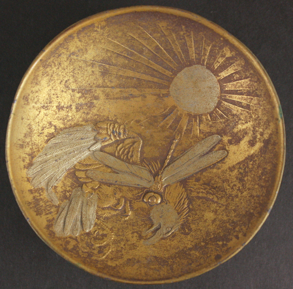 Russo-Japanese War Dragonfly Attacks Eagle Metal Army Sake Cup