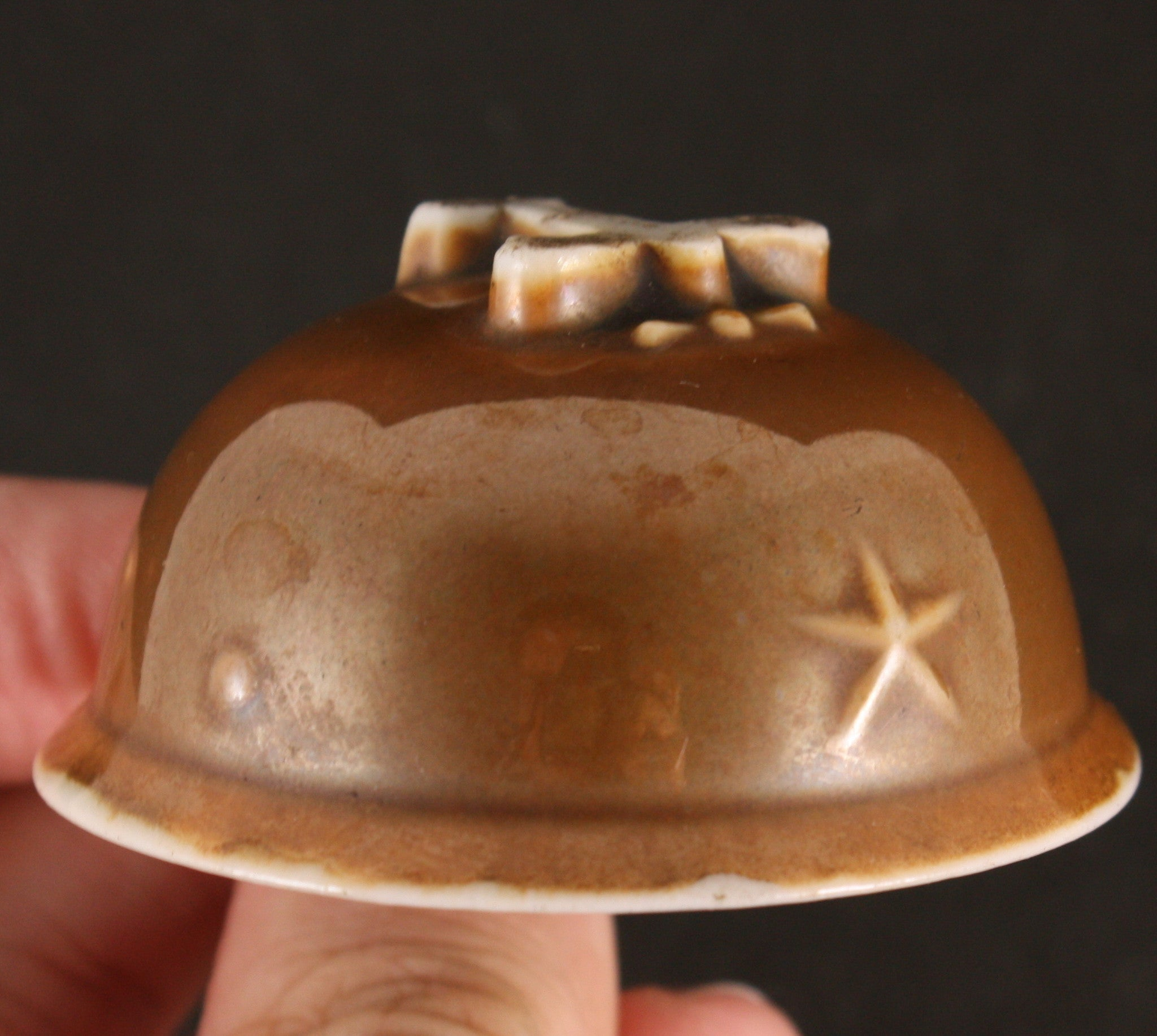 Antique Japanese Military WW2 Bombing Chinese Gate Helmet Army Sake Cup
