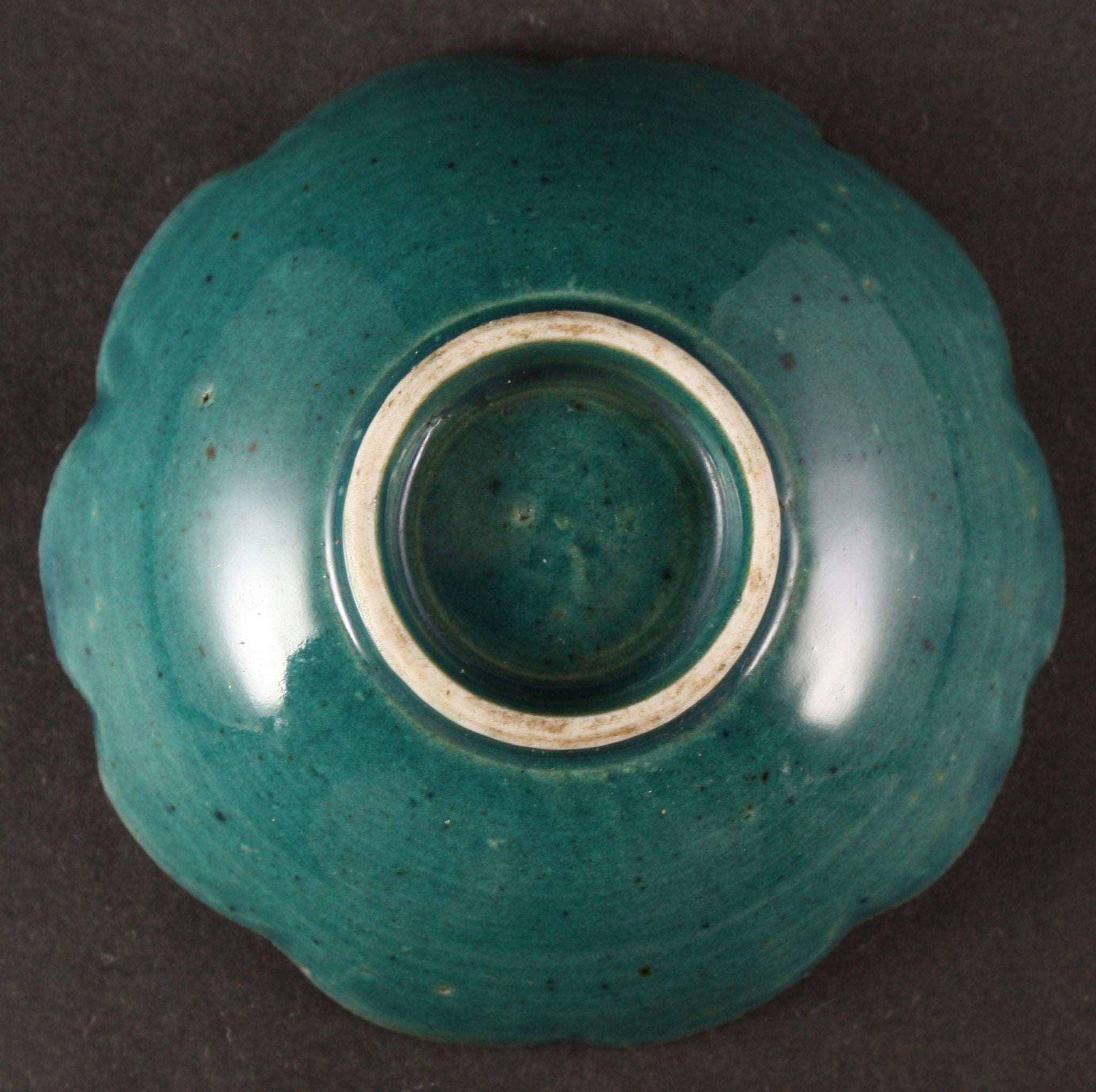 Russo Japanese War Rising Sun Badge Green Glaze Army Sake Cup