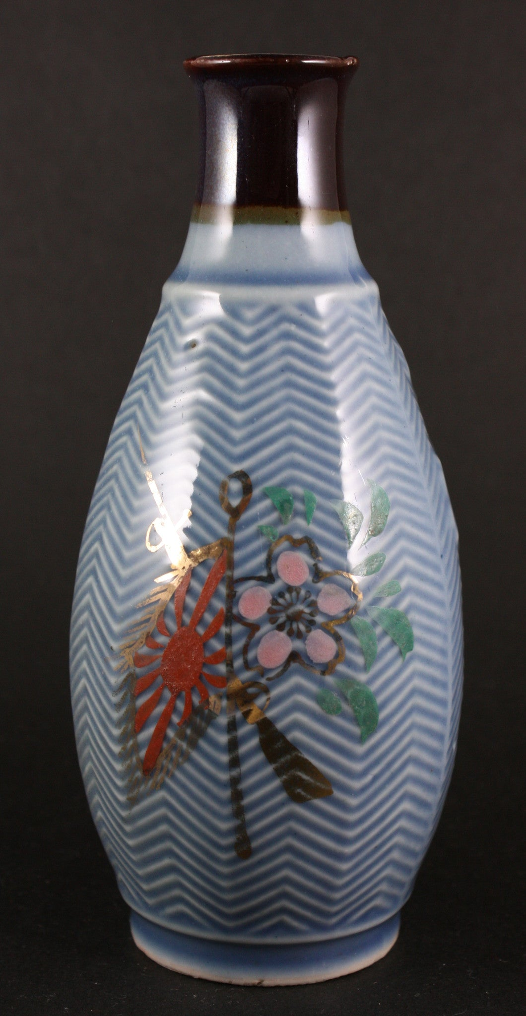 Antique Japanese Northern Manchuria Garrison Army Sake Bottle