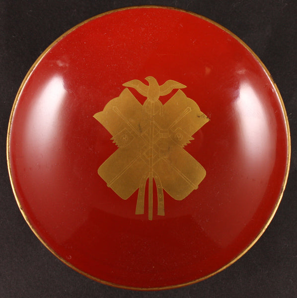 Antique Japanese Military Order of Golden Kite Award Lacquer Sake Cup