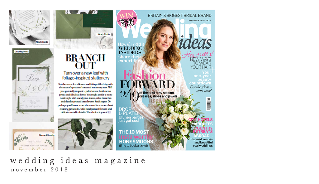 wedding ideas magazine november 2018