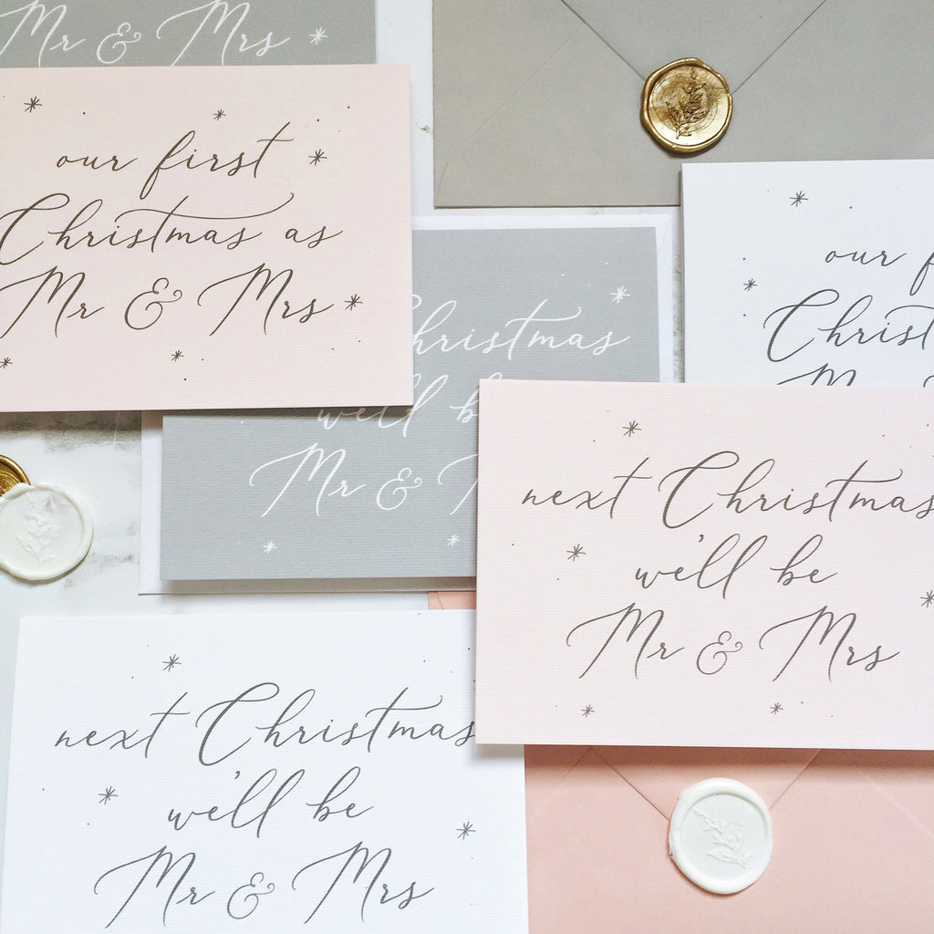 Next Christmas we'll be Mr & Mrs Card - White