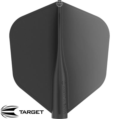 Dart Flights - Target - 8 Flight - Standard Dart Flights Black