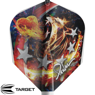Dart Flights - Target - 8 Flight Pro Player - Standard Dart Flights Paul Lim